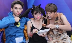 'Cô giáo Khánh' nhắng nhít giành ăn với Khổng Tú Quỳnh
