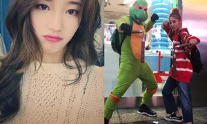 Sao Hàn 13/9: Suzy bĩu môi hờn dỗi, Dara hóa Ninja Rùa siêu kute