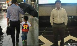 Lộ diện 'ông bố quốc dân' nổi tiếng vì bức ảnh nhường ô cho con