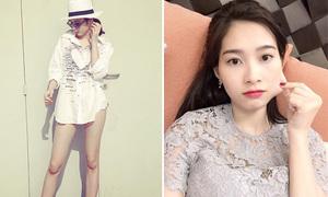 Sao Việt 23/9: Phương Trinh 'quên quần', Thu Thảo theo mốt bẹo má kute