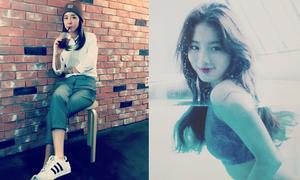 Sao Hàn 2/10: Dara giản dị trẻ trung, Suzy tạo dáng trong bể nước