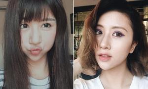 Hot girl Việt tíu tít cập nhật mốt selfie 'miệng cá'