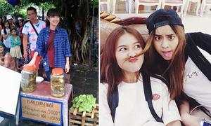 Sao Việt 12/10: Nhã Phương bán dưa muối, Khả Ngân đọ sắc với hot girl Thái