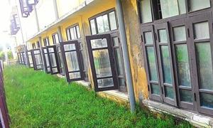 Trường cấp 3 Huế lún hàng mét, học sinh sơ tán