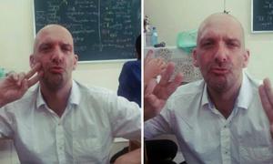 Thầy Tây thích selfie, kute vô đối teen Thăng Long thích mê