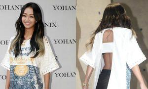 Hyorin mặc áo xẻ sau khó hiểu, Tiffany suýt hớ hênh