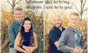 Bức ảnh bố ôm bạn trai của con gái 15 tuổi gây xôn xao