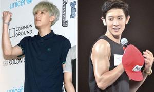 Chan Yeol, Xiu Min từ gầy gò thành trai cơ bắp sexy