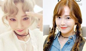 Tae Yeon - Jessica đụng hàng kiểu tóc mái trái tim