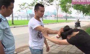 Kỹ năng tự vệ khi bạn gái bị giật tóc, dúi đầu hành hung