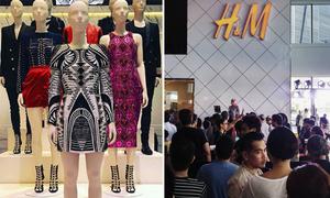 Không khí 'lều chõng' qua đêm chờ mua Balmain x H&M khắp thế giới