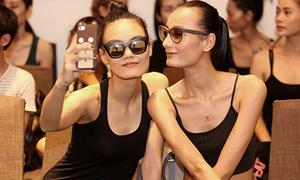 Lê Thúy gầy guộc đi casting cho fashion show của Lý Nhã Kỳ