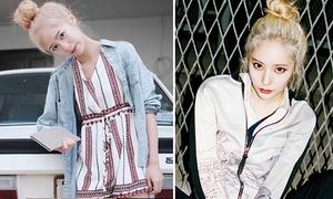 Hot girl số 1 Thái Lan lột xác thành mỹ nữ tóc vàng hệt Krystal