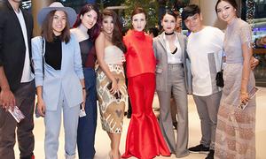 Yến Trang, Yến Nhi diện quần loe bung xòe tại Tuần thời trang Bangkok