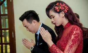 Hot girl Hà Min đẹp nổi bật trong lễ ăn hỏi