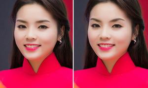 Sự thay đổi của Kỳ Duyên khi thử 5 kiểu lông mày bằng photoshop