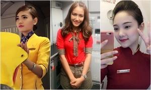 3 nữ tiếp viên hàng không gây thương nhớ vì ảnh chụp lén