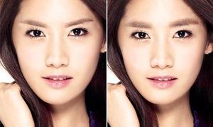 Yoon Ah trông thế nào với 5 kiểu lông mày bằng photoshop