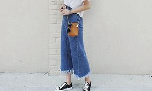 Giới trẻ Việt sốt mốt jeans lửng lơ kiểu Hàn