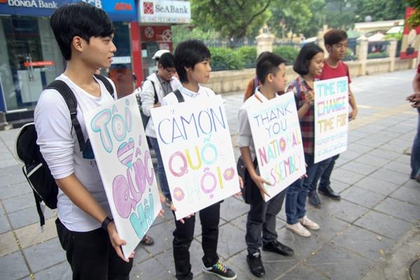 Các thông điệp mà các bạn trẻ gửi tới đại biểu Quốc hội.