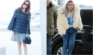 Seo Hyun mặc áo khoác lạ, Krystal đi giày 28 triệu đồng
