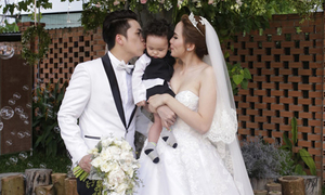 Đám cưới bất chấp mưa gió cực đáng yêu của Diễm Hương