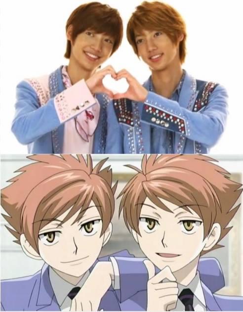 Cặp song sinh Young Min và Kwang Min của nhóm Boyfriend Hikaru and Kaoru from Ouran High School Host Club