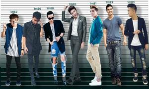 So sánh chiều cao của dàn hot boy Việt