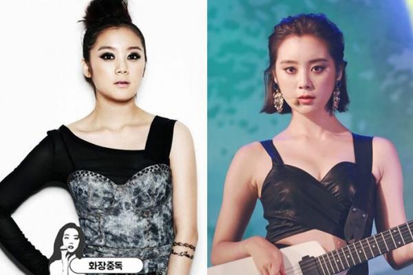 Hye Lim (Wonder Girls) có khuôn mặt khá tròn trịa, kiểu tóc ngắn và đánh   phấn tạo khối sẽ giúp mặt cô nàng trông thon gọn hơn. Một chút thay đổi   trong cách kẻ lông mày, vẽ mắt và tô son màu đậm, tươi tắn cũng giúp cải   thiện rõ rệt hình ảnh của Hye Lim.