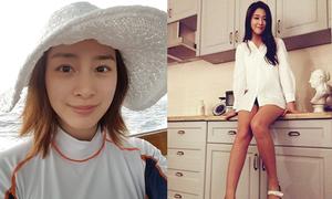 Sao Hàn 7/12: Kim Tae Hee mặt mộc xinh tươi, Seol Hyun chân dài miên man