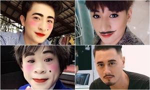 Hot teen Việt để râu, tô son với app mới Facebook