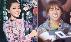 Sao Việt 11/12: Hari Won 'răng sứt', Chi Pu diện áo dài cực xinh