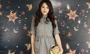 Hương Giang Idol mùa đông mặc váy ngắn mát mẻ như hè