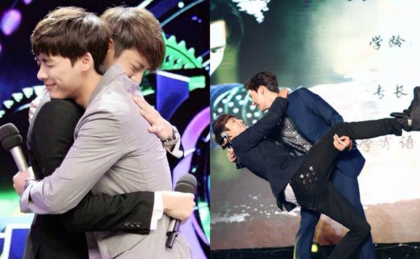Ngoài đời, Trần Vỹ Đình và Lý Dịch Phong không ngại ôm ấp, hôn gió, nắm   tay nhau thân mật khi tham gia show truyền hình. Cả hai cho biết họ là anh em   tốt, có chung cách suy nghĩ, nhìn nhận cuộc sống.