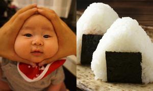 Trào lưu làm mặt cơm nắm hài hước cho em bé ở Nhật