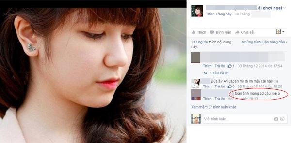 """Vẫn có nhiều bạn """"tỉnh táo"""" phát hiện việc sử dụng hình ảnh của hot girl nhằm để """"câu like""""."""