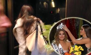 Hoa hậu Hoàn vũ 2014 về nước ngay sau chiến thắng hụt của em họ