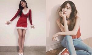 Sao Hàn 21/12: Hyo Min khoe dáng miễn chê, Tiffany bị chê già vì makeup đậm