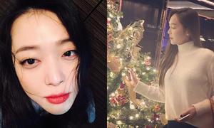 Sao Hàn 22/12: Sulli lộ bọng mắt to, Jessica lãng mạn bên cây thông Noel