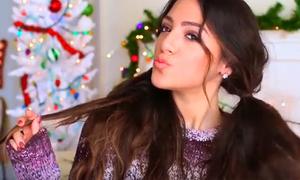10 cách tạo kiểu cho các nàng tóc dài đi chơi Noel