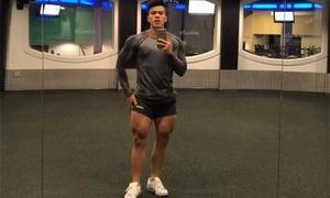Cơ bắp cuồn cuộn của chàng trai Hà Nội từng bị chê 'còi dí'