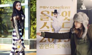 Sao Hàn 27/12: Victoria sang chảnh dạo phố, Dara múa bắt chước Psy