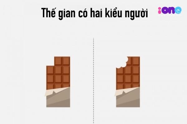 Cách ăn chocolate cũng nói lên sự khác biệt về tính cách: có người thích bẻ từng miếng vuông vức, song cũng có người