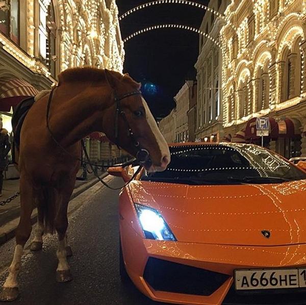 Di chuyển trong các thành phố lớn bằng ngựa hoặc siêu xe.