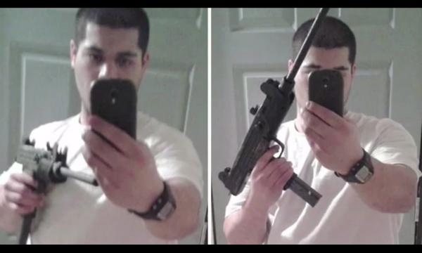 Selfie với vũ khí: dù là vũ khí thật hay giả, bạn chỉ khiến mọi người nhìn vào và bình phẩm về một anh chàng to xác nhưng chưa