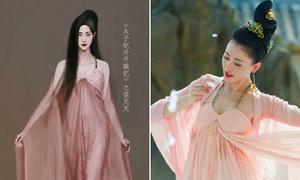 Loạt váy cổ trang sành điệu của Trương Bồng Bồng trong 'Thái tử phi thăng chức ký'