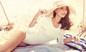 Diễm Trang tranh thủ chụp ảnh sexy trong kỳ trăng mật