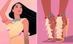 Chọn giày hàng hiệu 'chuẩn khỏi chỉnh' cho dàn công chúa Disney