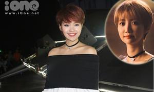 Minh Hằng tóc tém hệt Min Ha Ri đi xem The Remix