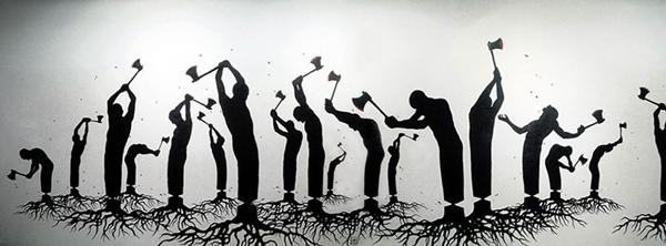 Khi chặt cây, chúng ta đang dần đốn ngã chính mình.
